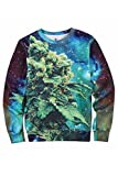 Pink Wind Stylish Weed Coral Galaxy Space Cosmic Sweatshirts T Shirts Pullovers