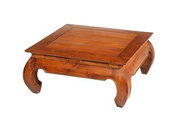 Nomades Design  500088 Table basse Teck/Contreplaqué 80 x 80 x 36 cm