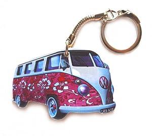 VW Campervan Keyring - Pink Hippy - VW10