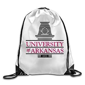 NCKG University Of Arkansas Durable Drawstring Backpack Travel Valise Bag