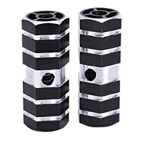 "BMX Bike Bicycle 3/8"" Axle Alloy Foot Pegs (Black)"