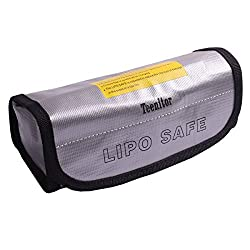 BW Fireproof Explosionproof Lipo Battery Safe Bag Lipo Battery Guard Safe Bag Pouch Sack for Charge Storage 185x75x60mm Large size