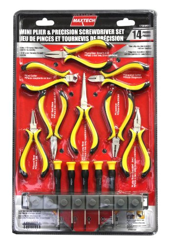 Maxtech 17305MX 14 Piece Mini  Pliers and Precision  Driver Set