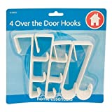Guilty Gadgets - Over The Door Hooks Hanging Clothes Storage Racks Coat Hanger 4 Pack