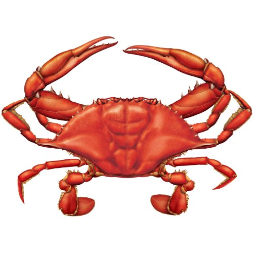 Crab Cutout Party Accessory (1 count) - 1