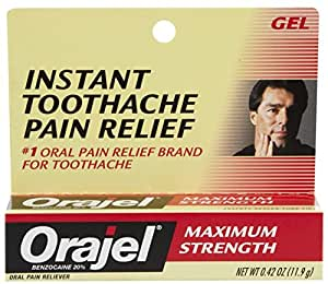 Orajel Maximum Strength Toothache PainRelief Gel - 0.25 Oz