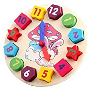 Wooden Shape Sorting Clock Learn to T…