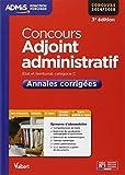 Concours Adjoint administratif - Annales corrigées - Catégorie C - Concours 2014-2015