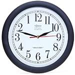 Backwards Clock -- Large Quartz Wall...