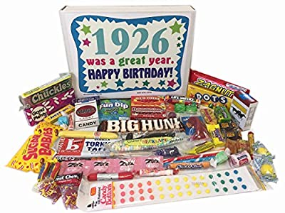 1926 90th Birthday Gift Basket Box Retro Nostalgic Candy From Childhood