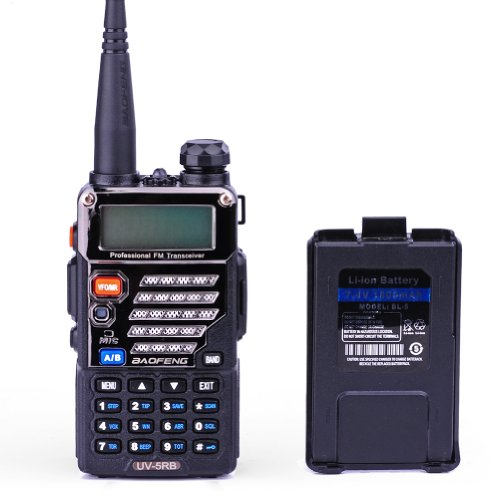 Best Buy! BaoFeng UV-5RB Dual-Band 136-174/400-480 MHz FM Ham Two-Way Radio + Replacement Battery (B...