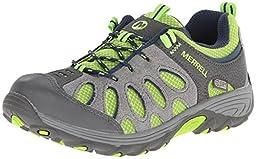 Merrell Chameleon Low WT Hiking Boot (Little Kid/Big Kid),Grey/Green,7 M US Big Kid