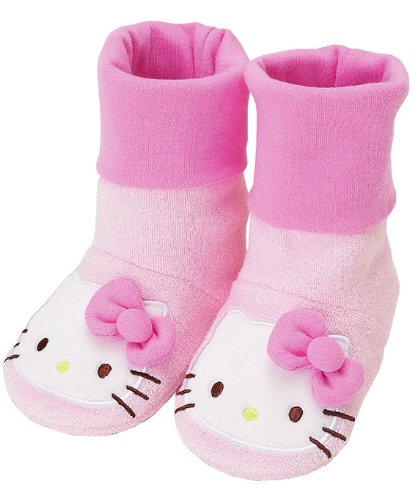 NEW SANRIO HELLO KITTY PINK SOFT BABY BOOTIE CRIB SHOES SOCK SHOES size 4