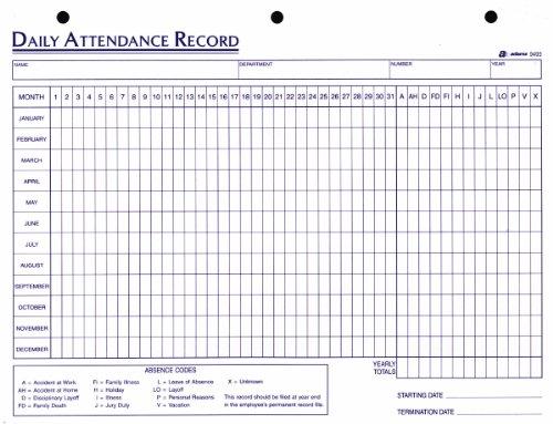 Doc#650457: student attendance sheet template excel - attendance