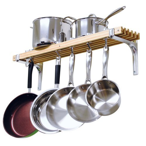 Cooks Standard Wall Mount Pot Rack, 36 by 8-Inch Home & Kitchen
