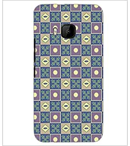 PrintDhaba Pattern D-5266 Back Case Cover for HTC ONE M9 (Multi-Coloured)