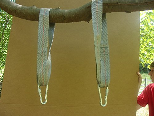 Thirty six inches long tree swing hanging kit 2 straps Wood tree swing and hanging kit