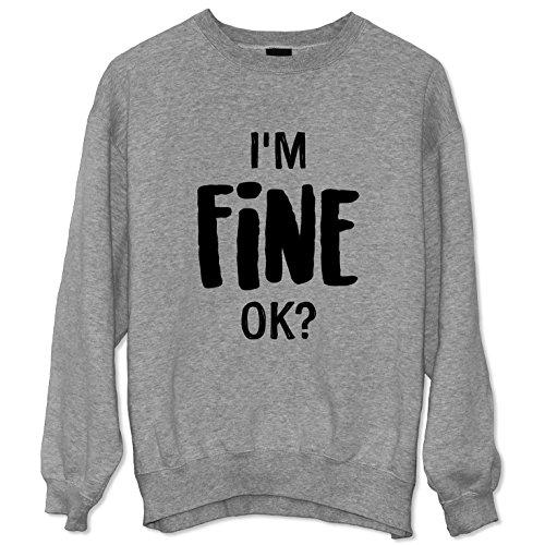 I'm Fine Felpa Sweatshirt Sweater Unisex / Spedizione Veloce / S M L XL XXL dimensioni