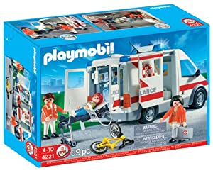 playmobil ambulance vehicle toys games. Black Bedroom Furniture Sets. Home Design Ideas