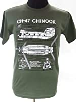 Chinook CH-47 Helicopter - United States Army / Military T Shirt with blueprint design