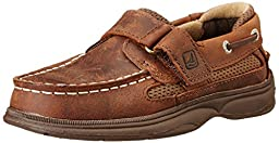 Sperry Top-Sider Cutter Hook and Loop Boat Shoe (Toddler/Little Kid/Big Kid),Brown,12 M US Little Kid