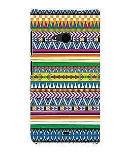 Fuson 3D Printed Tribal Pattern Designer Back Case Cover for Microsoft Lumia 535 - D975