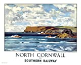 Pentire Head, Padstow, North Cornwall, by Norman Wilkinson, British Railway Travel Art Poster Print
