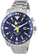 Comprar Seiko  Sportura Kinetic GMT - Reloj de cuarzo para hombre, con correa de acero inoxidable, color plateado