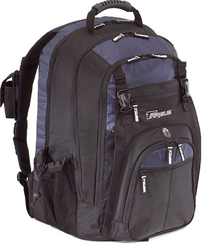Targus XL Backpack Designed for 17 Inch Notebooks TXL617 (Black with Blue Accents)