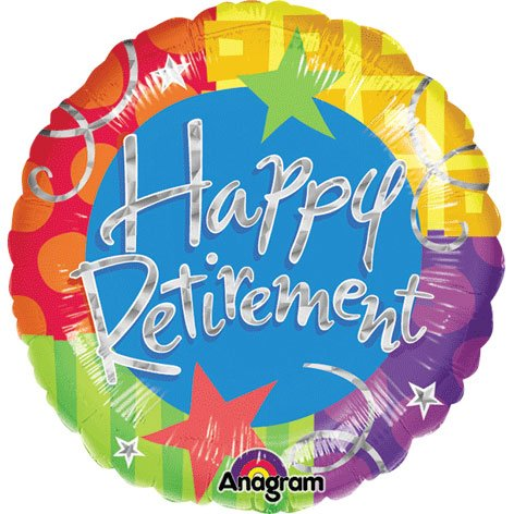 "32"" Happy Retirement Holographic"
