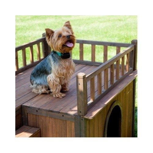Dog House With Stairs – Staircase – Balcony – Porch – Wood