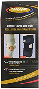 Maxar Airprene (Breathable Neoprene)  Warp-around Hinged Knee Brace, Size: S