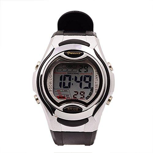 8Years - 1 Digitaluhr Kinder Armbanduhr Stoppuhr Wasserdicht Outdoors Schwarz
