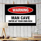 ALDIVO® Office Wall Poster | Office Door Poster | Home Wall Poster (Man Cave Enter At Your Own Risk)