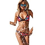 Blooming Jelly Women's Sexy Geometric Print Bikini Set