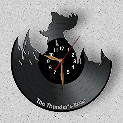 Vinyl Record Clock - League of Legends Volibear - LoL Champion / Championship Wall Decor / Recycled Vinyl Record (Black middle - Arabic digits) 12 inch (30cm) (Champions League 15 Album compare prices)