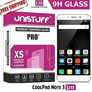 Unistuff™ 2.5D Curve Edge HD Ultra Clear PRO+ Tempered Glass for CoolPad Note 3 Lite