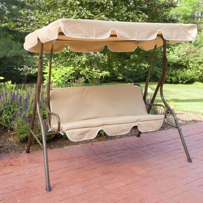 Realever Ginger Cove 2 Person Canopy Swing - SWING302 BEIGE