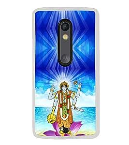 ifasho Lord Vishnu Back Case Cover for Moto X Style