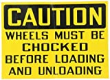 Roadblock MS1606-1 20 Gauge Steel Safety Sign, Black on Yellow, 14