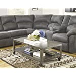 Ashley Furniture Signature Design - Hattney Coffee Table - Cocktail Height - Rectangular - Gray
