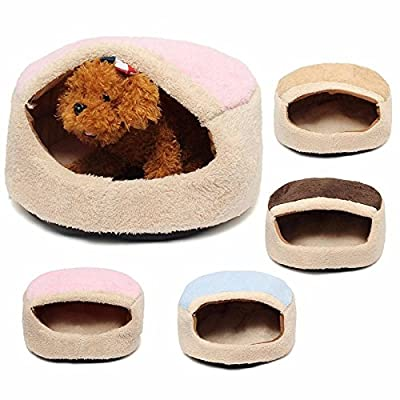 Drillpro Cats House, Pet Cave, Round Pet Bed for Cats and Small Dogs Pet Cat Puppy Sleeping Bag Snuggle Sack Bed