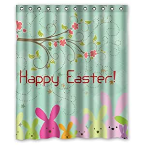 amazon     happy easter colorful eggs cute rabbit