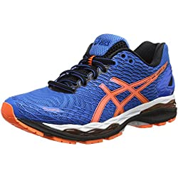 ASICS Gel-nimbus 18 - Scarpe Running Uomo, Blu (electric Blue/hot Orange/black 3930), 42,5 EU