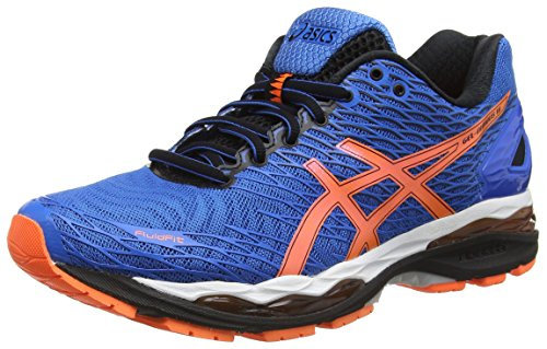 ASICS Gel-nimbus 18 - Scarpe Running Uomo, Blu (electric Blue/hot Orange/black 3930), 45 EU