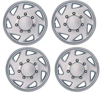 """Set of 4 Premium 16"""" Chrome Finish Replica Wheel Cover Ford E250 E350 by Unique Imports"""