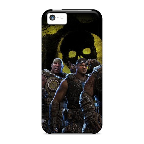 Fashion Tpu Case For Iphone 5C- Gears Of War 3 Brothers To The End Defender Case Cover front-323813