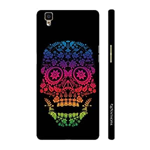 Enthopia Designer Hardshell Case Skull Art 2 Back Cover for Oppo R7s