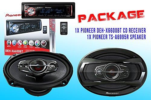 Package ! Pioneer Deh-X6600Bt Cd-Receiver + Pioneer Ts-A6995R Car Speakers