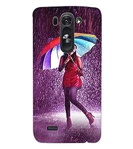 ColourCraft Girl in Rain Design Back Case Cover for LG D722K